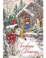 Christmas Blessings Greeting Cards, Pack of 12