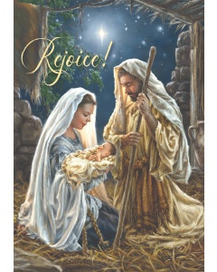 Rejoice Christmas Cards, Pack of 12