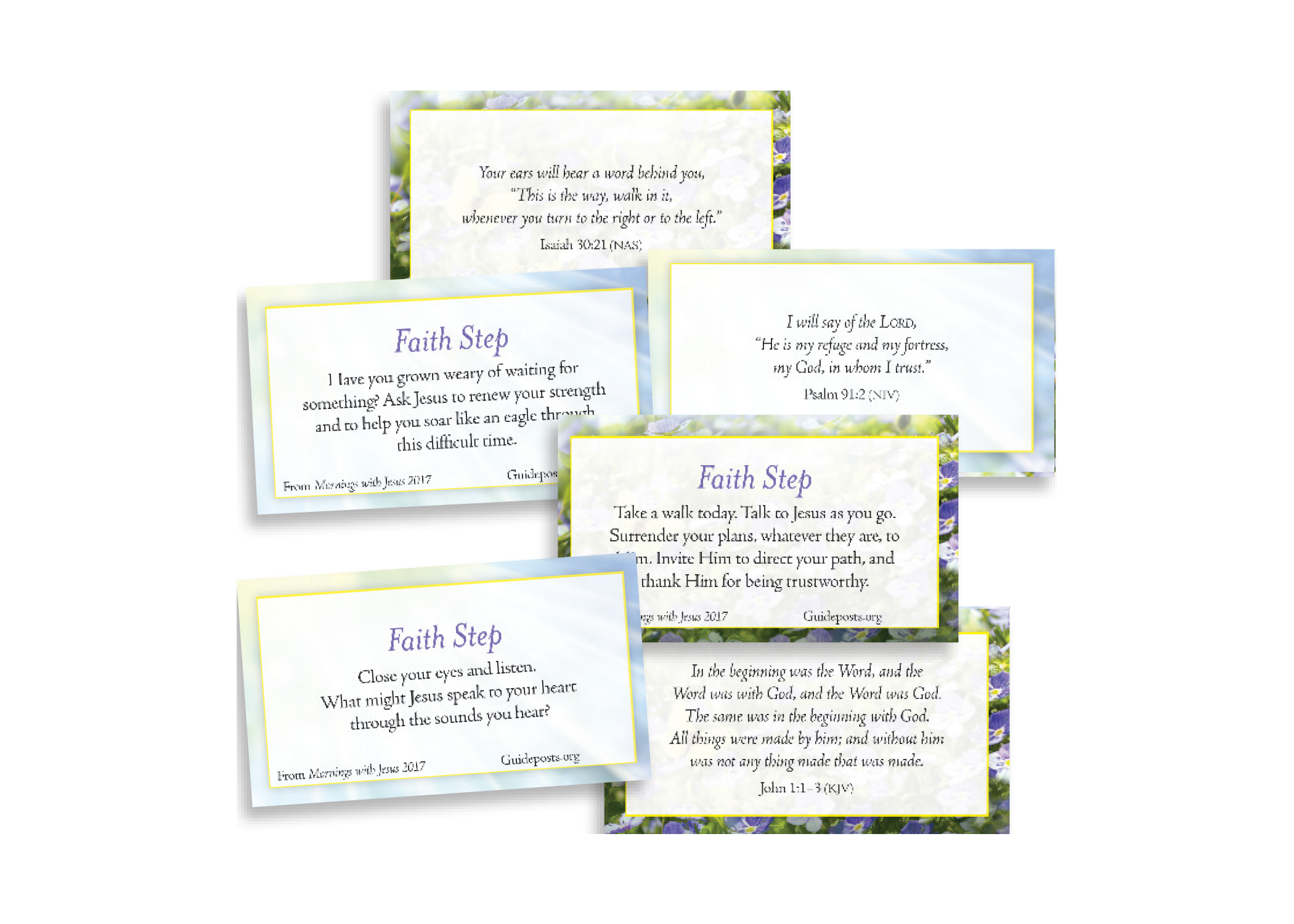 FREE Gift - 12 Faith Step Scripture Cards