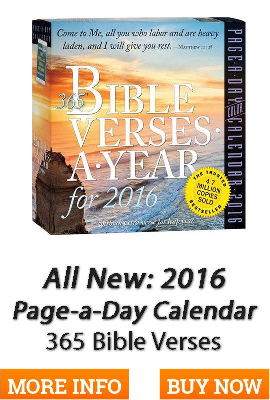 Page a Day Calendar: 365 Bible Verses