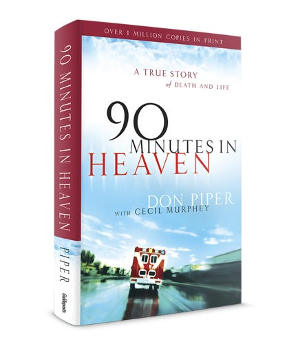 Book cover -- 90 Minutes in Heaven